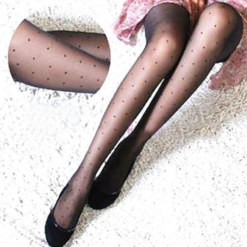 Hot Women Fashion Sexy Sheer Small Dot Pattern Stretchy Pantyhose Tights Stockings