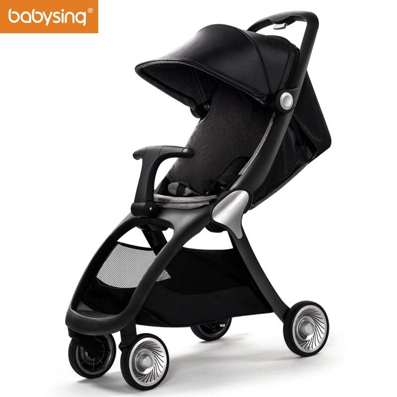 Babysing K-GO Роскошные коляски всесезонные путешествовать налегке зонтик автомобиль коляска складная детская коляска Марка коляска