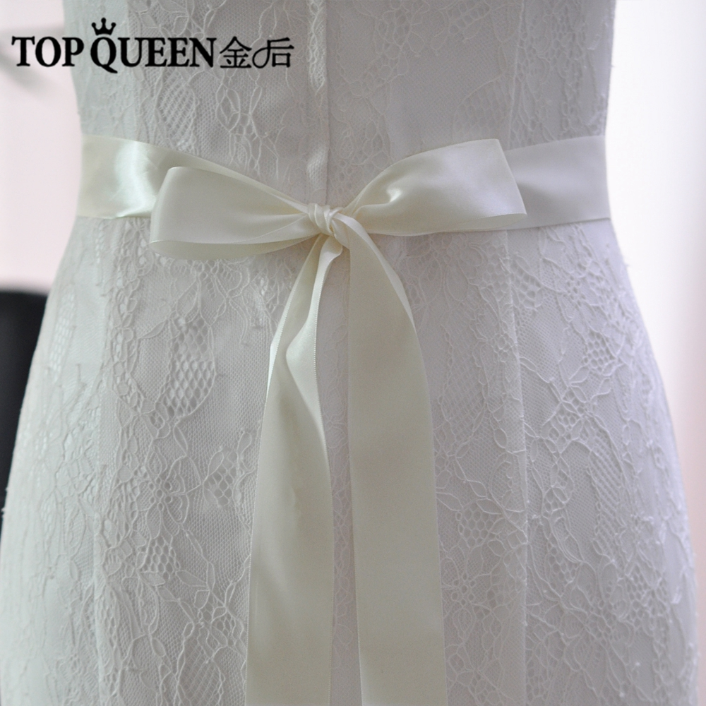 TOPQUEEN S40-4 New Stock Wedding Ribbon Sashs 4cm Width 19 Colors Ribbons For Dresses Satin Sashes Customized Colors Ribbons