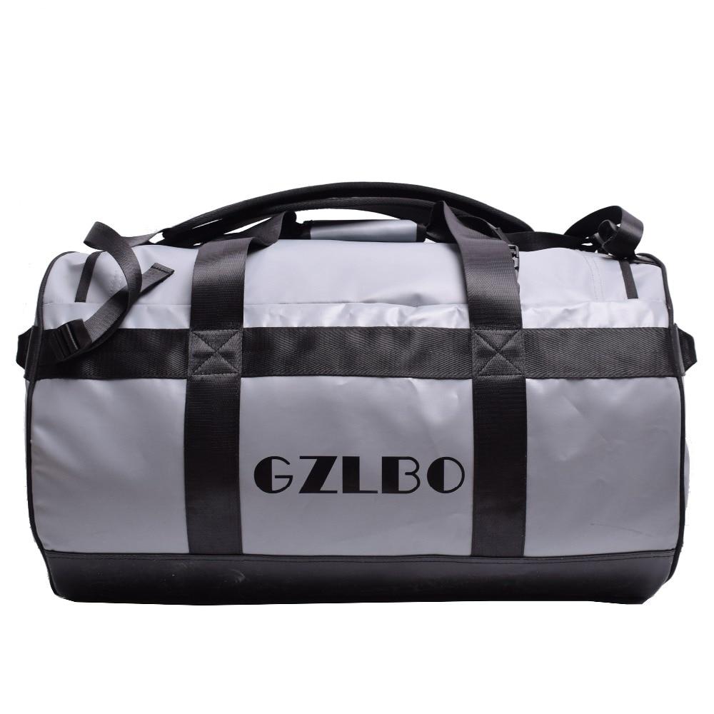 купить GZLBO 65L Popular PVC waterproof bag grey travel bag Waterproof duffel bag недорого