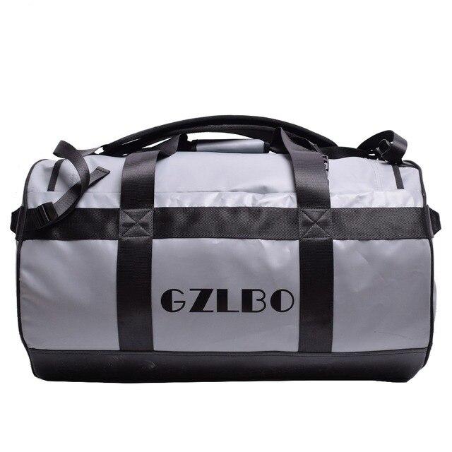 GZLBO 65L Popular PVC waterproof bag grey travel bag Waterproof duffel bag 2fdd4af8025a0