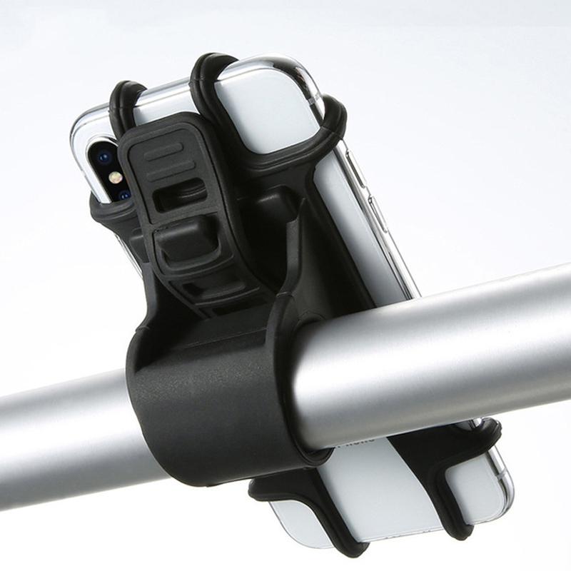 Vélo vélo téléphone portable support en Silicone moto guidon support de montage pour iPhone Samsung Xiaomi Huawei GPS dispositif