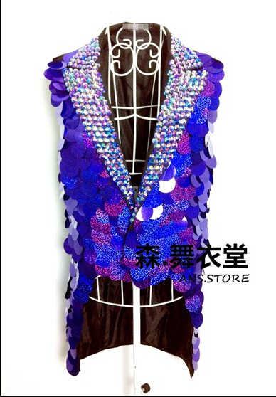 Бар ночной клуб вилочная часть певица сцена ds редкие симфония зеркало весы поставить ласточкин хвост мужчины костюм жилет платье костюмы ночные клубы одежда