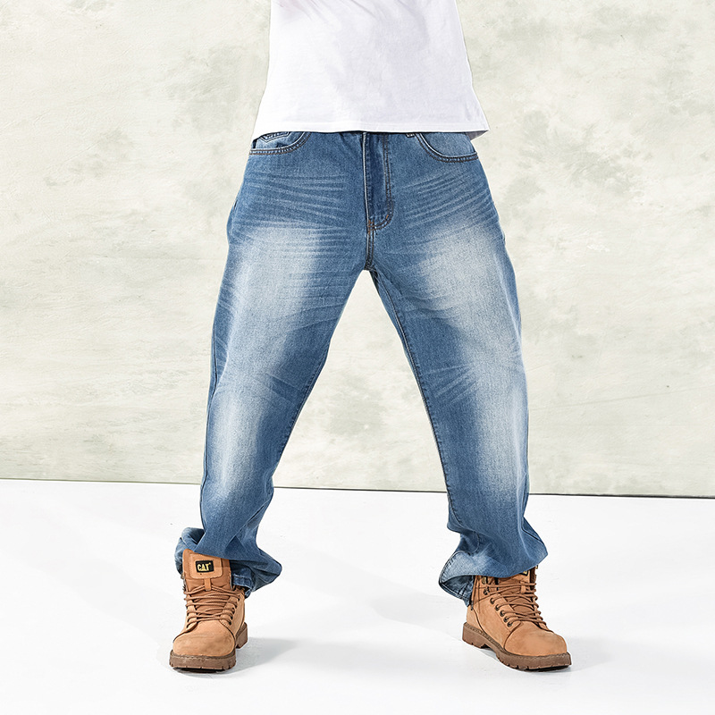 2014 new simple and comfortable jeans plus size jeans baggy men s trousers fat brother tide