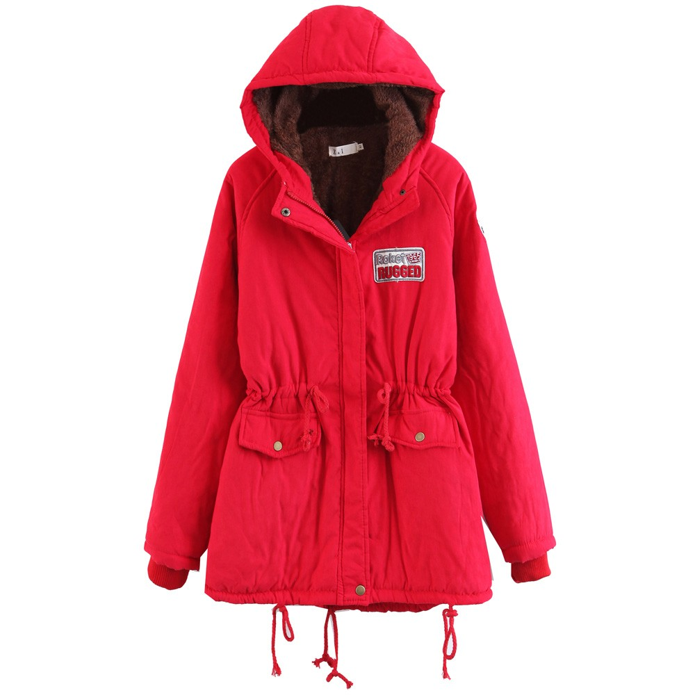 b02db144bc98 Womens Warm Long Coat Fur Collar Hooded Jacket Slim Winter Parka Outwear  Coats-in Parkas from Women s Clothing   Accessories