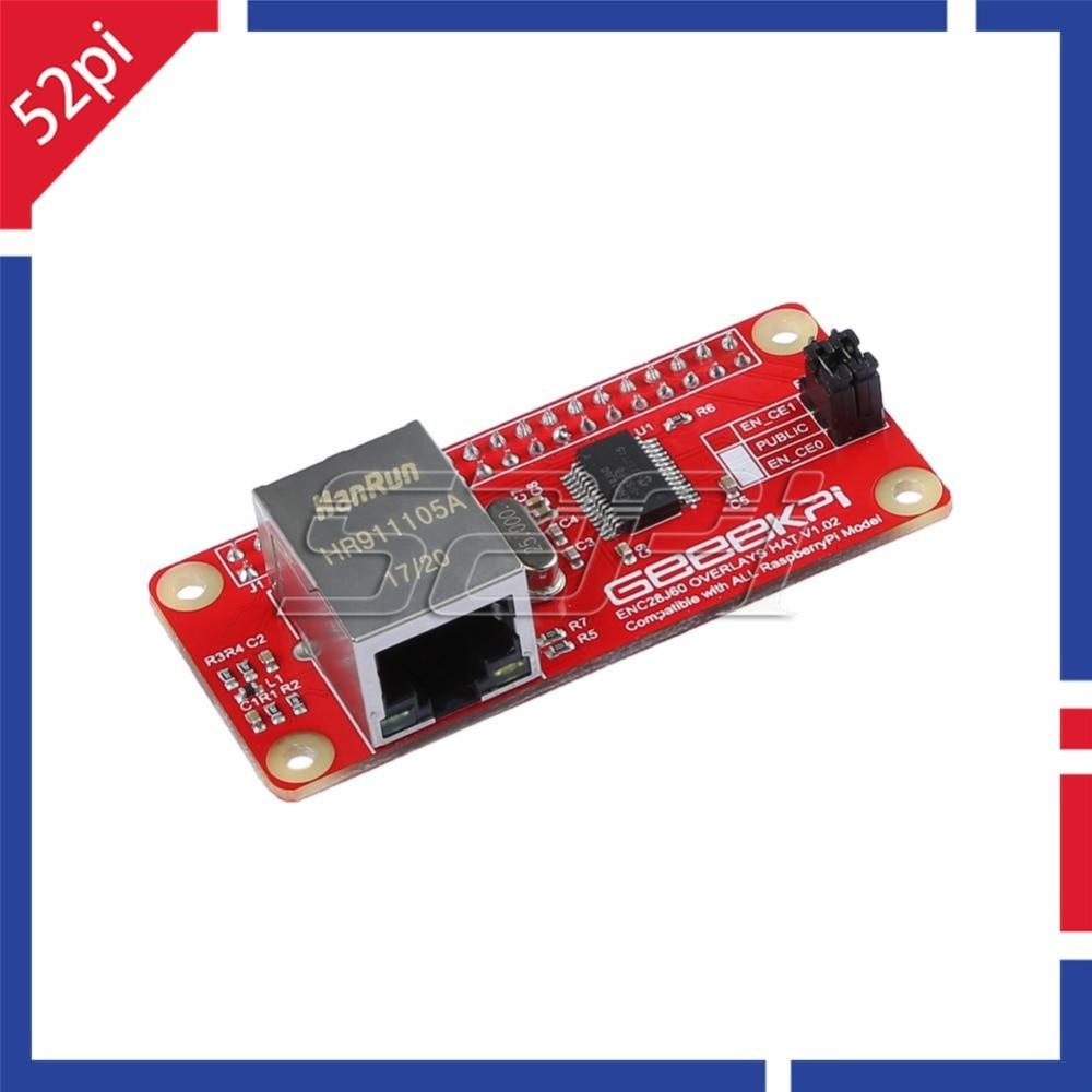 52Pi Enc28j60 Network Adapter Module For For Raspberry Pi 4 B ( 4 Model B ) / Raspberry Pi Zero