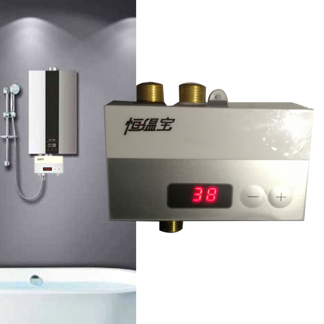 JMKWS Solar Water Heaters Thermostat Faucet Adjusting Temperature Electronic Intelligent Mixing Valve Thermostatic Shower Faucet