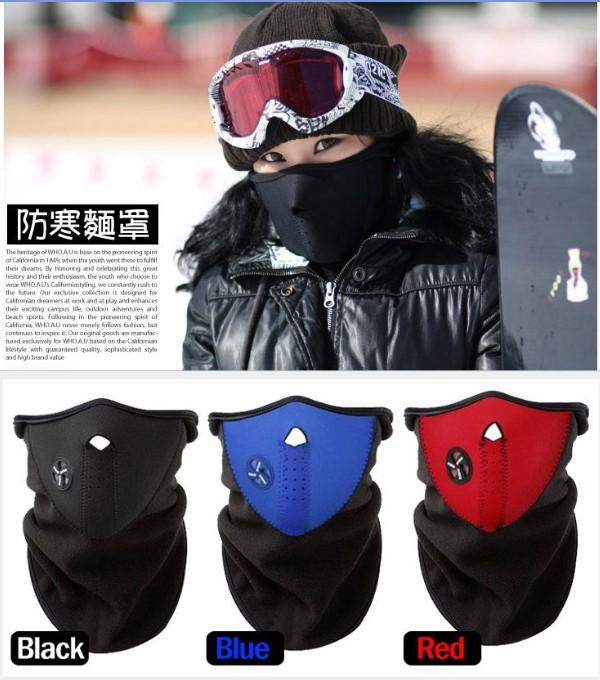 500XWOLFBIKE Bicyle Cycling Motorcycle Fleece Half Face Mask Winter Hood Windproof Cap Headwear Thermal for Sports Ski Snowboard-in Replacement Parts & Accessories from Consumer Electronics    1