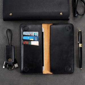Image 4 - FLOVEME אמיתי עור ארנק טלפון תיק מקרה עבור סמסונג גלקסי S9 S8 בתוספת S7 S6 קצה מקרה ארנק כיסוי עבור capinha iPhone7 בתוספת