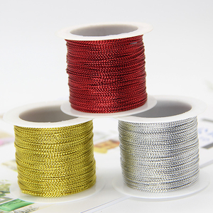 20 Meters 1mm Rope Gold Silver Red Cord Thread Cord String Strap Ribbon Rope Tag Line Bracelet Making No-slip Clothing Gift Deco