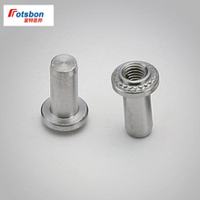 цена 200pcs B-0420-1/B-0420-2 Self-clinching Blind Fasteners Zinc Plated Carbon Steel Blind Nuts PEM Standard Factory Wholesale онлайн в 2017 году