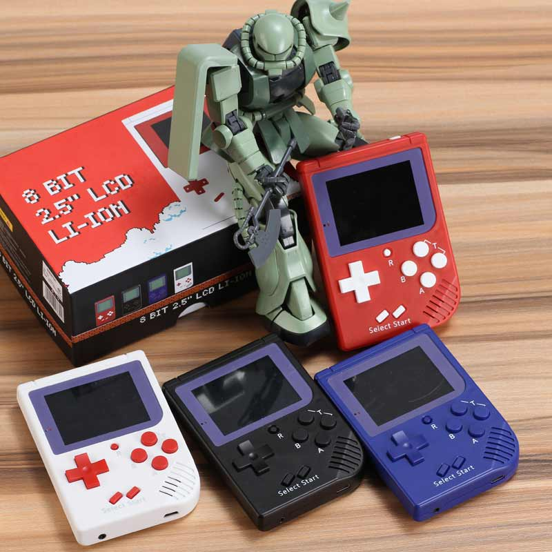 Wholesale 50/100/150/200pcs Retro mini game console built in 129 classic games Portable Handheld Game Player best gift for kids
