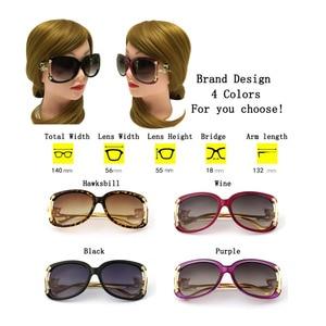 Image 4 - Sunglasses Women Luxury Brand Designer Ladies Alloy Frame Gold Fox Decoration Sun Glasses Girls 4 Colors