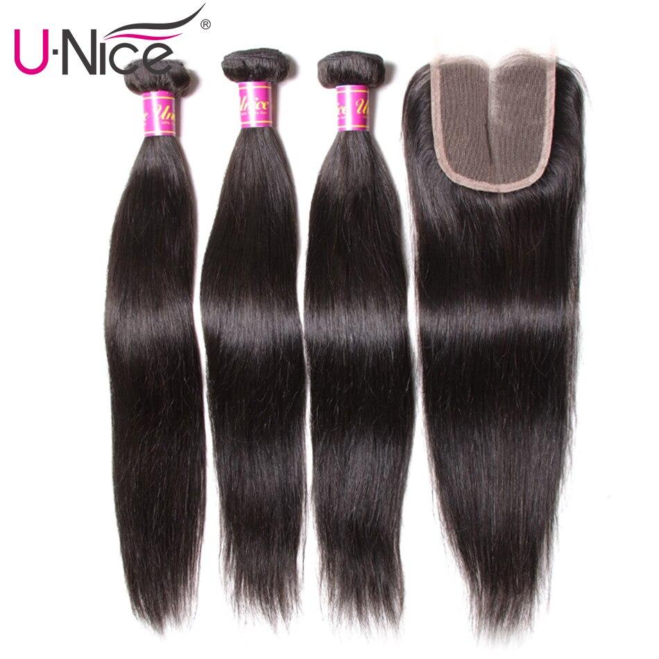 HTB1XJdba6zuK1Rjy0Fpq6yEpFXaW UNice Hair Peruvian Straight Hair 3 Bundles With Closure High Ratio Lace Closure 4/5PCS Swiss Lace Human Hair Weave Remy Hair