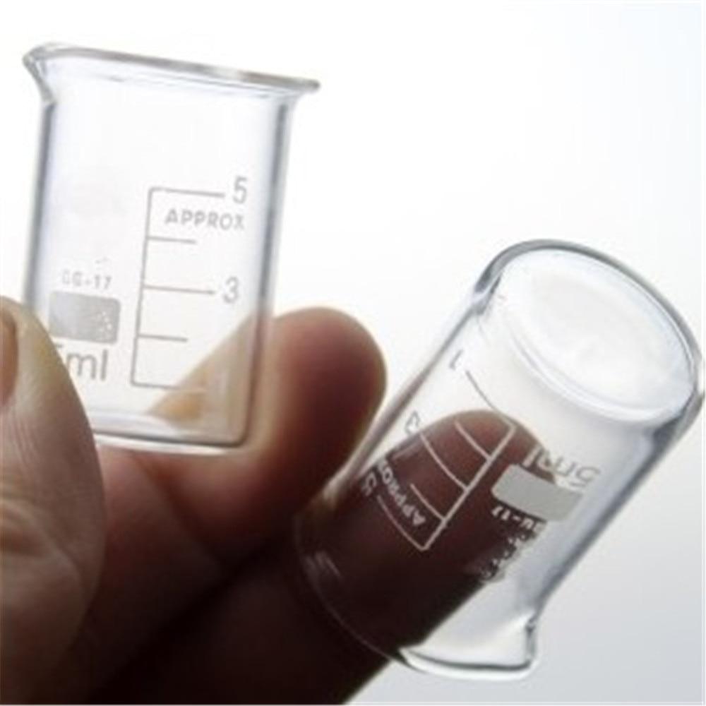 5Pcs/Lot 5mL Glass Beaker Low Form New Chemical Lab Glassware