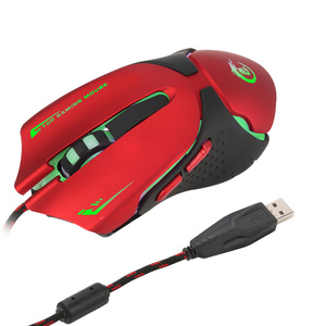 Image 4 - HXSJ 6 מפתחות Wired משחקי עכבר A903 3200DPI צבעוני LED נשימה אור USB Wired משחקים אופטיים עכבר