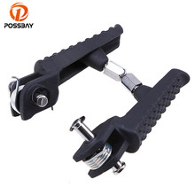 POSSBAY 1 Pair Black Motorcycle Foot Pegs Footrest Pedane Moto Custom ATV for Yamaha YZF R1 R6 R6S 2004-2008 Moto Foot Pegs(China)