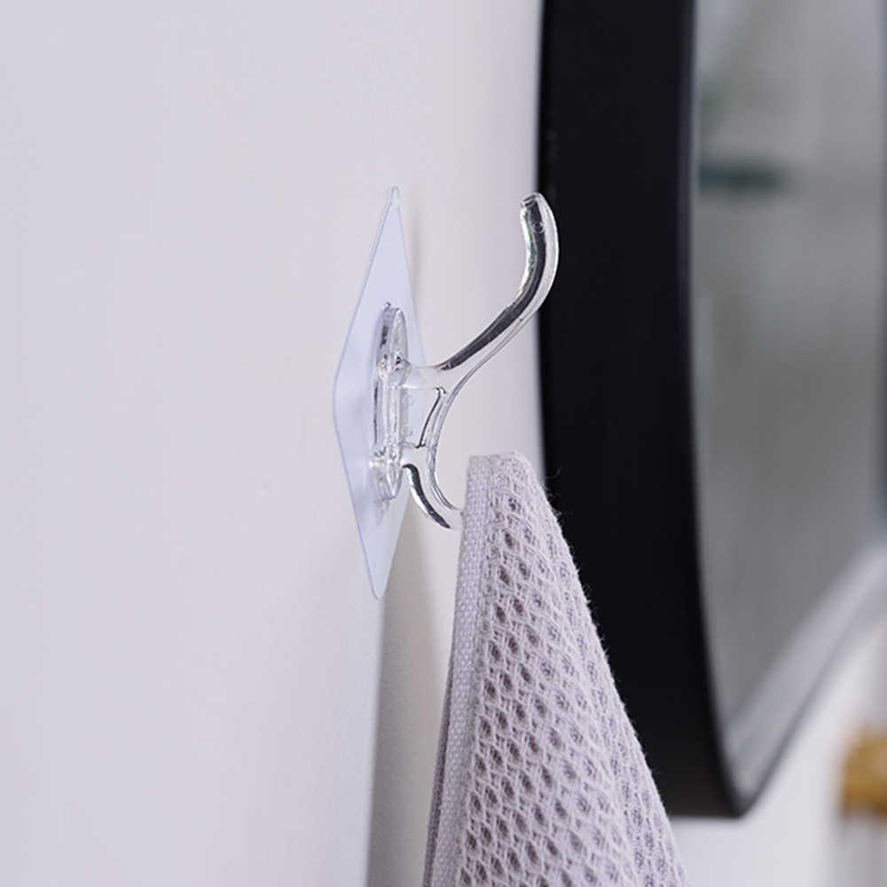 1pc 強力な透明自己粘着ドア壁ハンガー吸盤吸盤ウォールフックハンガー用アクセサリー