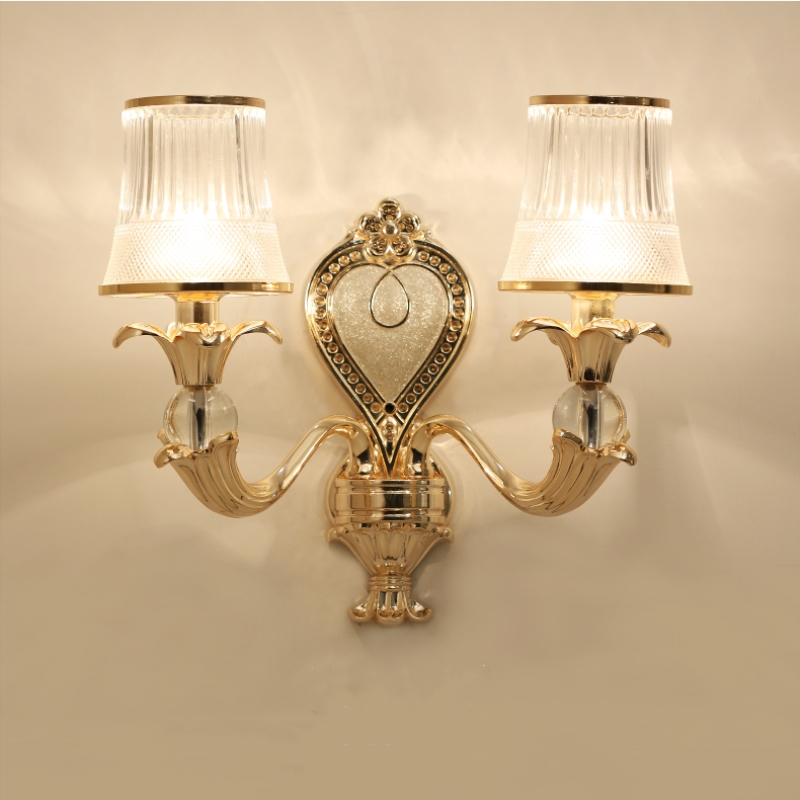 Jane European zinc alloy lamp bedroom bedside lamp living room staircase corridor study wall single double head wall lamp in Wall Lamps from Lights Lighting