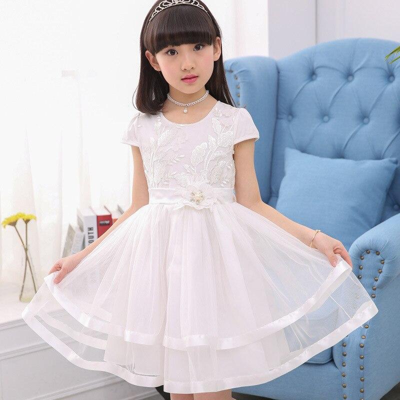 Fashion Teenage Girls Lace Dresses Summer Kids Dresses For Girls Clothes Fashion Girl Embroidery Princess Birthday Party Dress 2