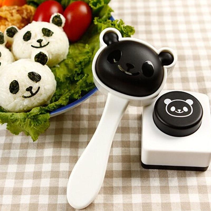 1pc korean Lovely Panda Shape Mold Nori Punch DIY Sushi Maker Rice Ball Mould kitchen tool