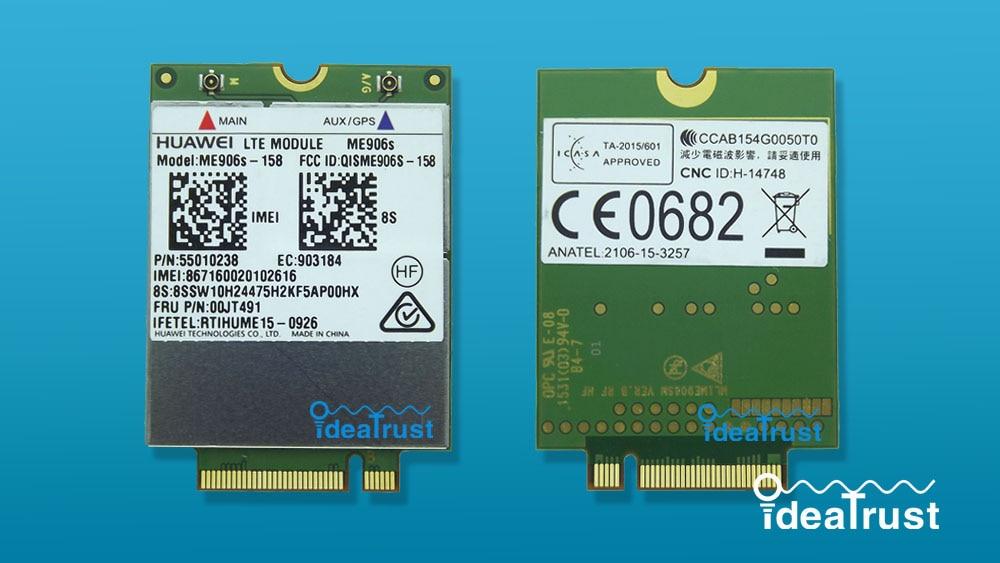 ME906S ME906S-158 FRU 00JT491 01AX717 LTE  NGFF 4G WWAN Network Card for T460 T460s P50s T560 X260 X1 Yoga L560 X1 Carbon P50s sierra mc7750 lte solution 4g wwan module for thinkpad t430 t430i series fru 04w3791