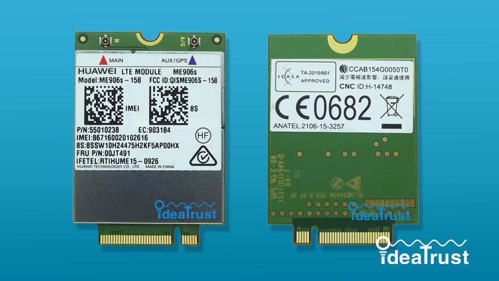 ME906S ME906S-158 FRU 00JT491 LTE NGFF 4G WWAN Network Card for T460 T460s P50s T560 X260 X1 Yoga L560 X1 Carbon P50s