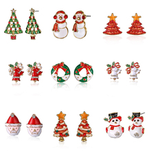 Fashion Women Santa Claus Snowman Tree Bell New Year Christm