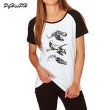 Новая женская футболка с принтом в стиле Харадзюку Юрского периода, летняя футболка размера плюс, Женская забавная футболка с рисунком динозавра