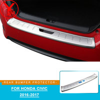 car rear bumper protector stainless steel auto stickers For honda civic 2016 2017 accessories For honda civic 2016 2017 YCSUNZ