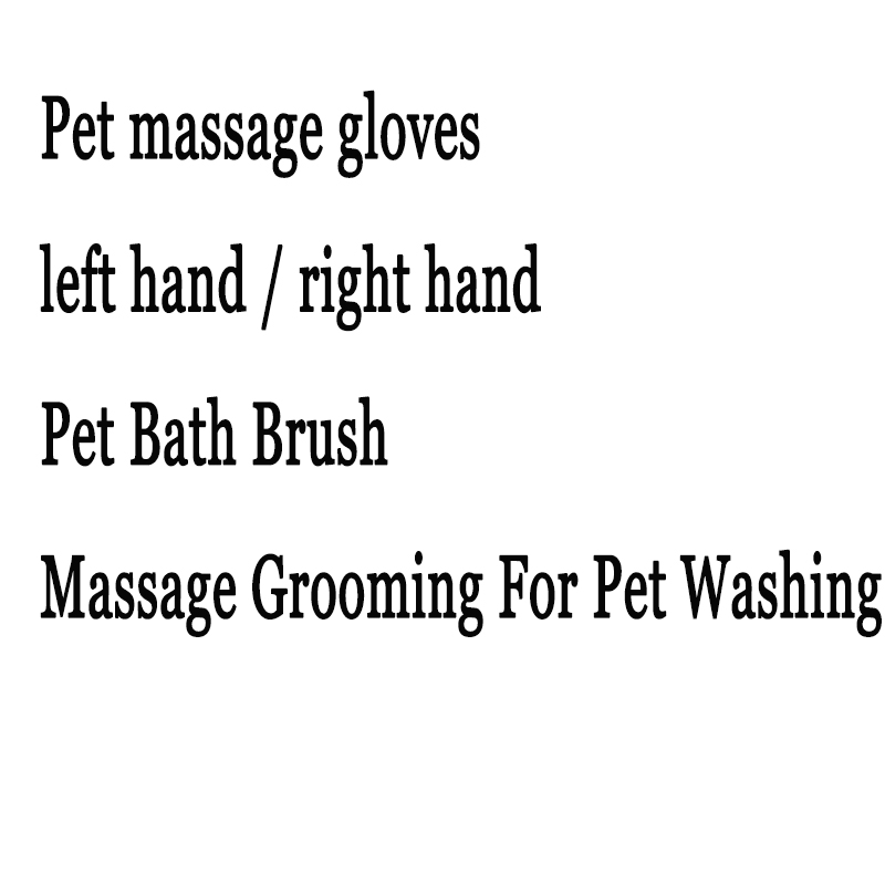 Pet massage gloves left hand / right hand Pet Bath Brush Massage Grooming For Pet Washing cat and dog pet cleaning massage gloves brush