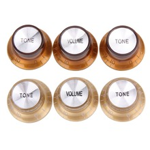 1 Set of 3pcs  Volume Tone Electric Guitar Knobs For SG Style Electric Guitar  Free Shipping Wholesale цена