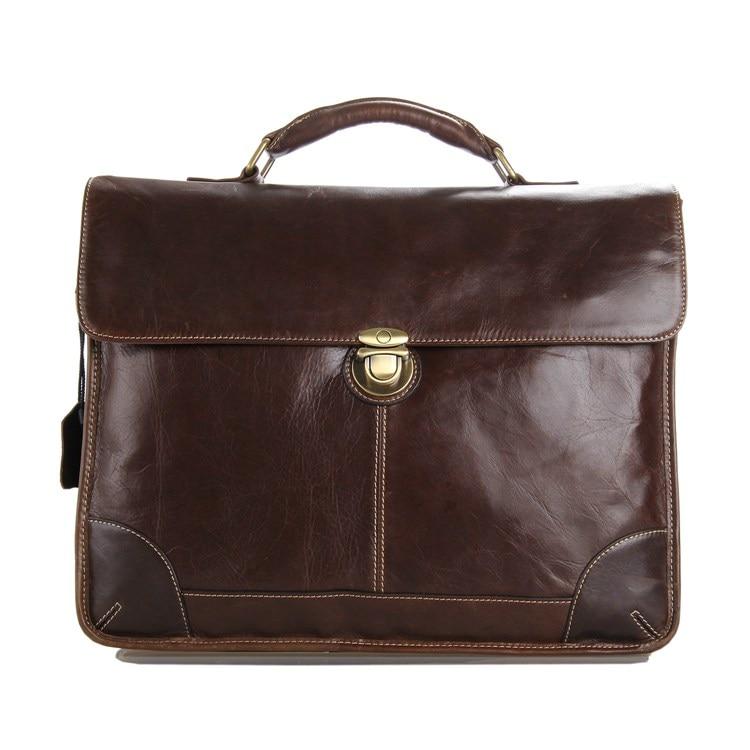 Augus Genuine Leather New Style Fashion Design Brown Color Briefcase Handbag Shoulderbag Crossbody Bag Men Shoulder Bag 7091C уиттекер э т аналитическая динамика перевод с английского
