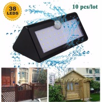 10x 38 LED Solar Power Light Waterproof Motion Sensor Home Garden Security Yard Path Wall Lamp