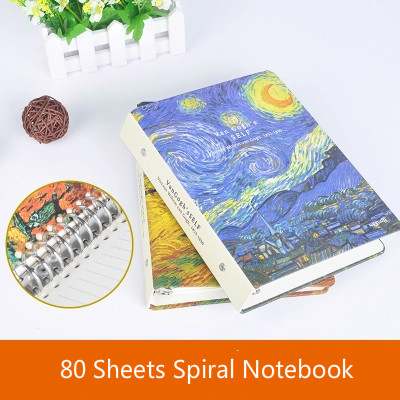 Image 2 - A5 Van Gogh Notebook Planner School Office Stationery Creative Spiral Journal Notebook Thick Notebook Diary Book Bullet Journal-in Notebooks from Office & School Supplies