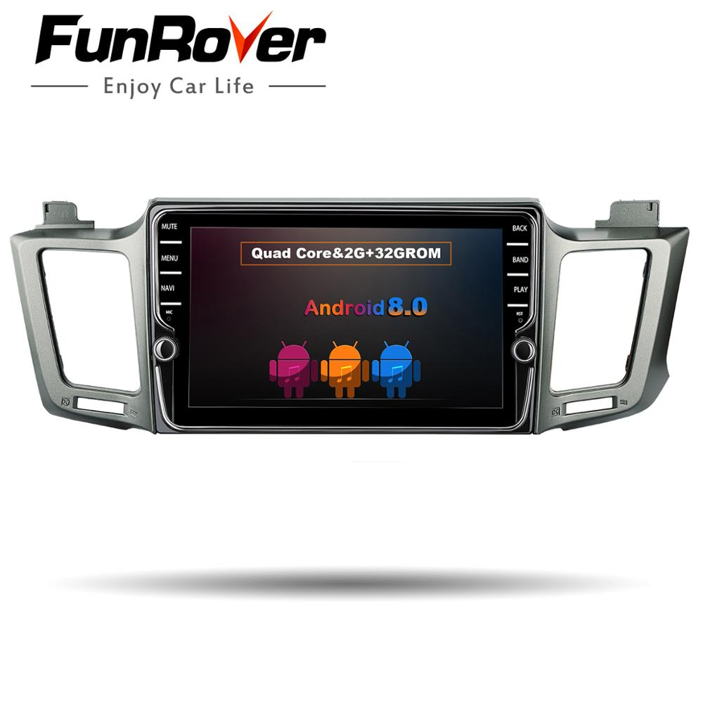 Funrover 9''Android8.0 2din car dvd multimedia player radio for Toyota RAV4 2013 2014-2017 head unit stereo GPS navi Mirrorlink велосипед cube stereo hybrid 140 sl 27 5 2014