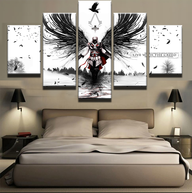 5 Panels Modular Picture Ins Creed Canvas Painting Wall Art Prints Home Decor Poster