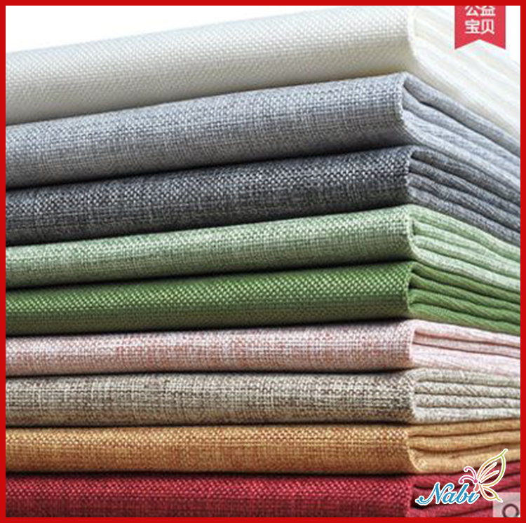 Nabi Cotton fabric the cloth Patchwork Fabrics by the meter Super wax hollandais for furniture Coarse hemp flax 50*150cm