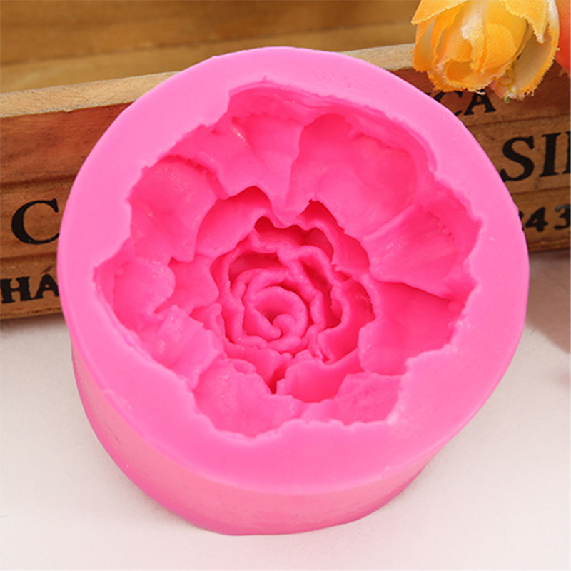3D Large Flowers Roses Soap Mould Chocolate Cake Decorating Tools DIY Baking Fondant Silicone Mold E557