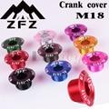 Крышка зубной пластины, кривошипная крышка M18 MTB шатун для велосипеда, алюминиевый BMX NRoad велосипедный фитинг, 9 цветов