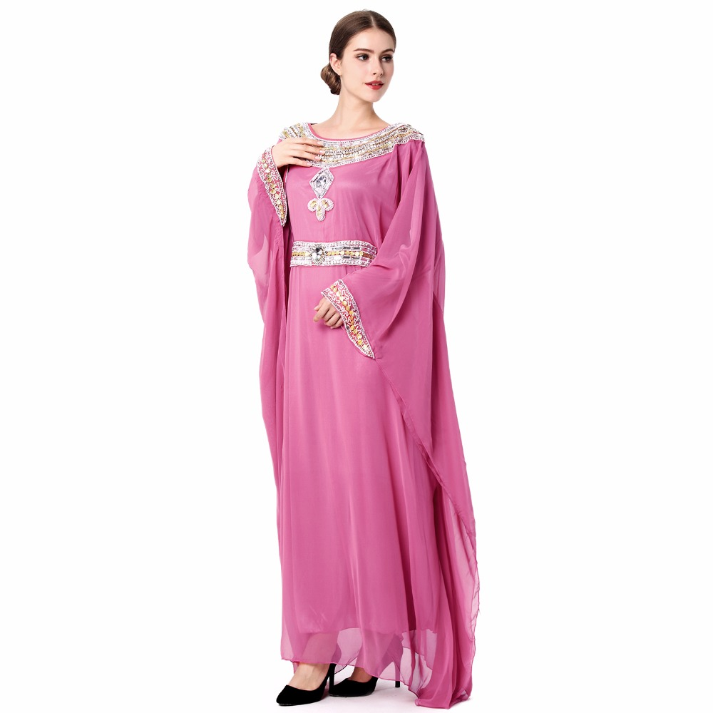 Compra vestido de dubai abaya musulmán online al por mayor de ...