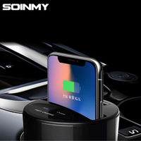 Soinmy 10W QI Wireless Car Charger For iPhone X 8 Plus Cup Slot Car Charger Fast Charger for Samsung Note 8 S7 S8 S9 For Xiaomi