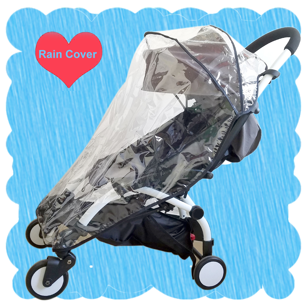 Compatible Rain Cover Weather Shield Plastic Clear Netting For Babyzen YOYO + Plus Stroller