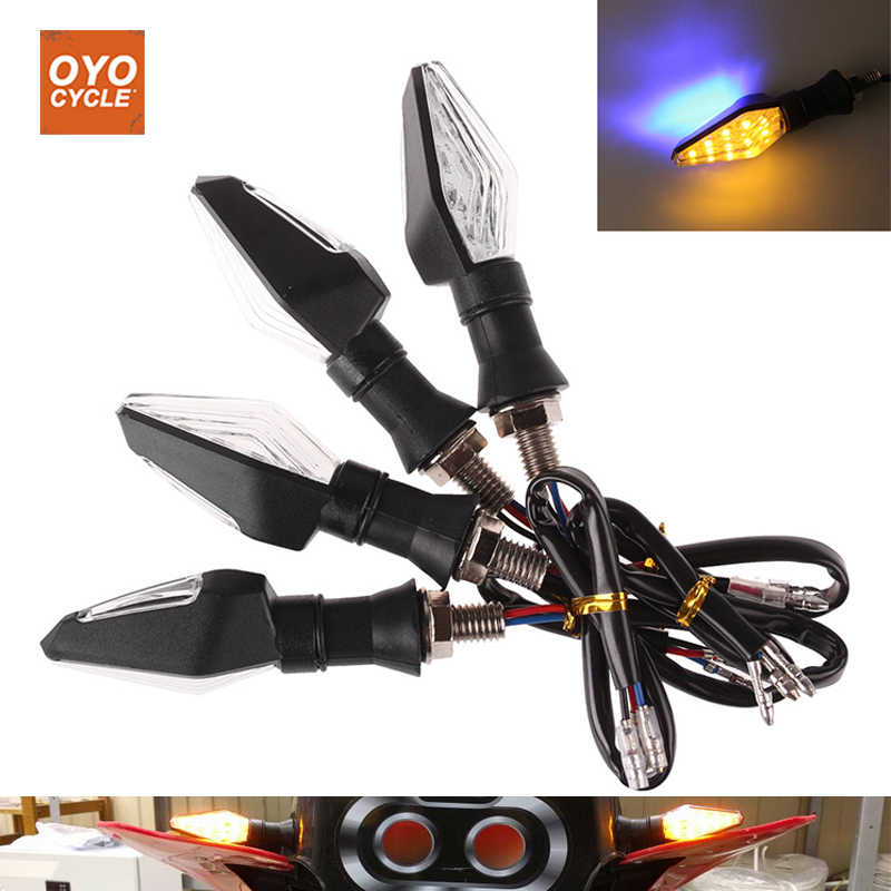 4Pcs/lot Motorcycle LED Turn Signal Lights Direction Indicator Flasher Light For Honda CBR600 F2/F3/F4/F4I CBR600RR CBR1000RR