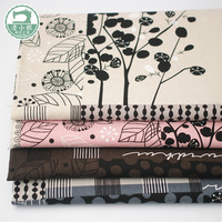 Imported fabric DIY cotton fabric Japanese hand painted lines combination Cloth