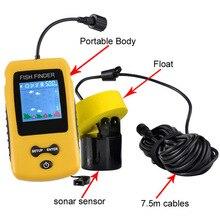Проводной сонар Рыболокаторы глубина подводного Рыбалка Камера эхолот сигнализации преобразователя Fishfinder 100 м Бесплатная доставка