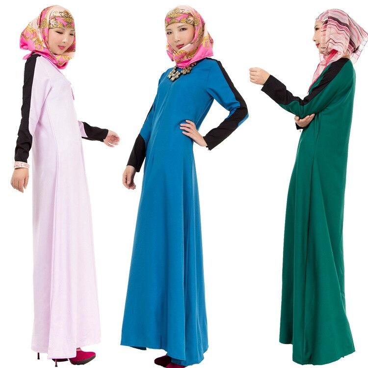 new concept 99ac4 70b8d US $18.6 6% di SCONTO|Musulmano Donne Costumi Adulti Culto Musulmano  Vestiti Ragazza Abiti Lunghi Malaysia Abbigliamento Islamico Signora Abaya  ...