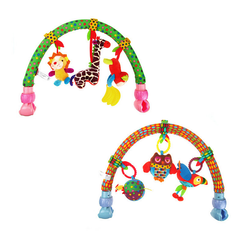 New 2017 Baby cribs Rattle babyplay Mobile Cot Bell Music Multifunctional Plush Toy Arm Bab Bed Hanging Rattle Toys Newborn Gift