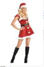 Señora Nueva Sexy Navidad Traje Fantasia Cosplay Trajes de Santa de Navidad Mujeres Helloween Cosplay de Rol Traje B-3854