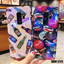 Fashion Brand Luxury Cool Beer Bottle Cap Blu Ray Case For Samsung Galaxy S8 S9 Plus Note8 9 Soft IMD Cover Capa Fundas